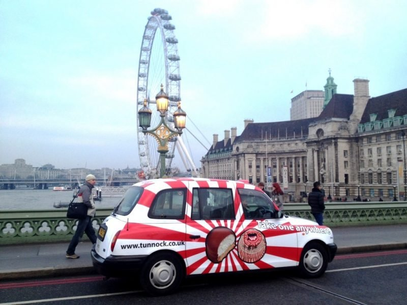 Tunnocks mouth watering campaign in london