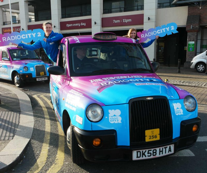radio city taxi pr in liverpool